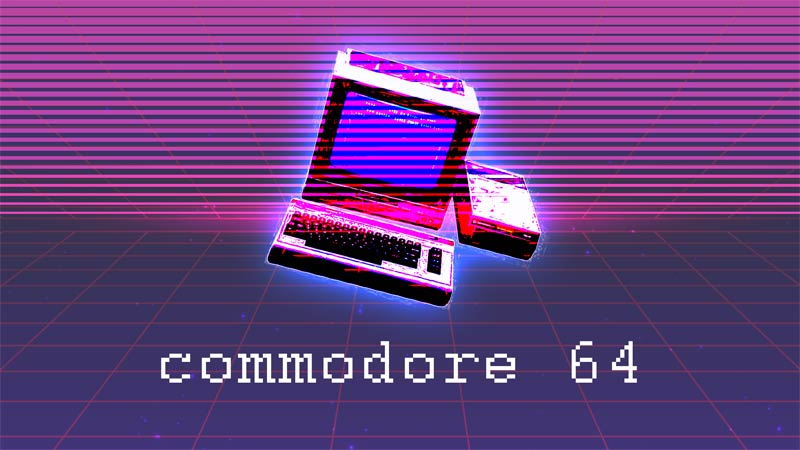 retro commodore 64 image