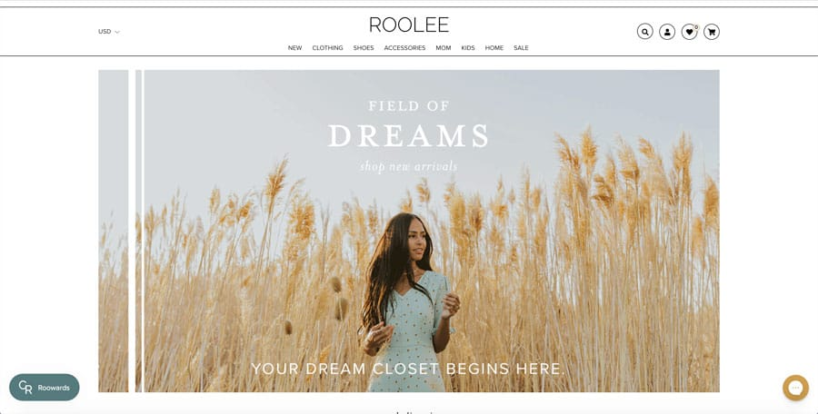 Roolee.com home page