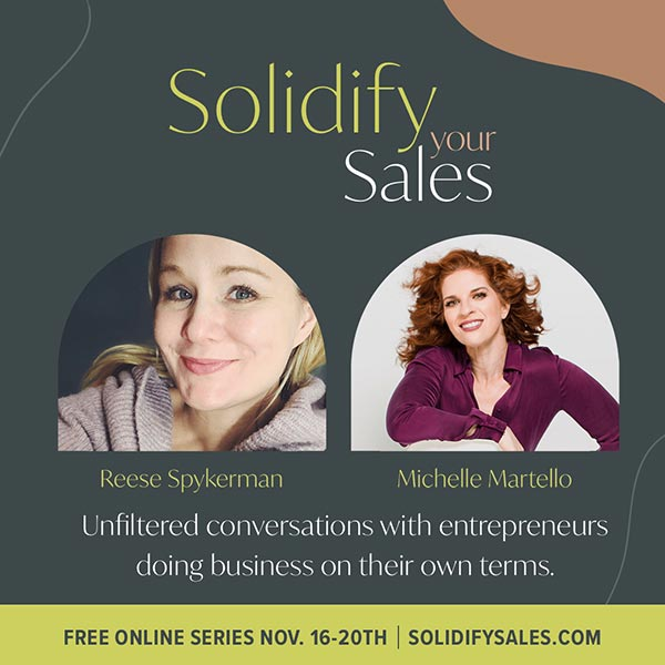 Solidify Your Sales Masterclass with Reese Spykerman